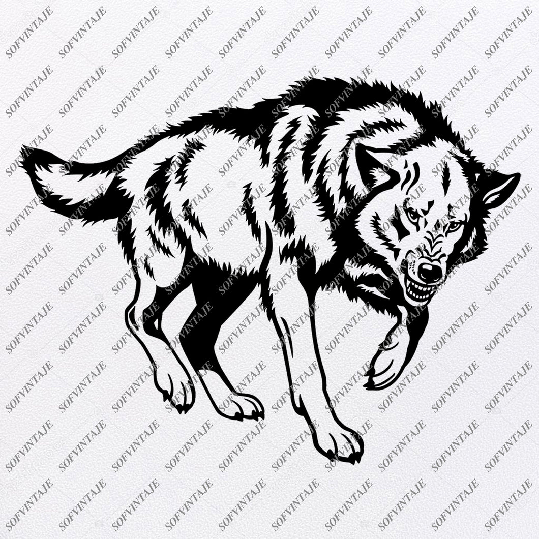 Wolf Svg File - Wolf Svg Design - Animals Svg - Wolf Clipart - Vector Graphics - Svg For Cricut - Svg For Silhouette - SVG - EPS - PDF - DXF - PNG - JPG - AI