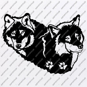 Wolf Svg File - Wolf Svg Original Design - Animals Svg - Clipart - Svg For Cricut - Svg For Silhouette - Wolf Vector Graphic File - SVG - EPS - PDF - DXF - PNG - JPG - AI