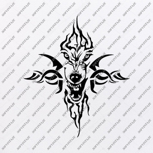 Wolf Svg File - Wolf Svg Original Design - Wolf Clip art - Animals Svg File - Vector Graphics - Svg For Cricut - For Silhouette - SVG - EPS - PDF - DXF - PNG - JPG - AI
