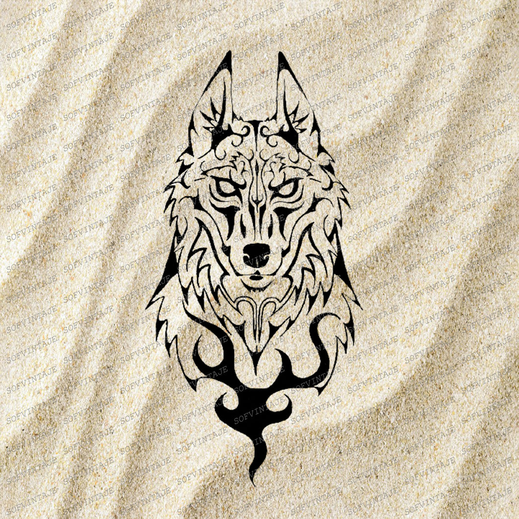 Wolf Svg File-Wolf Original Svg Design-Animals Svg-Tattoo Svg-Clip art-Wolf Vector Graphics-Tattoo Svg For Cricut-Svg For Silhouette-DXF-EPS