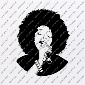 Woman Svg File-Woman singer Original Design-Wonan Clip art-Woman Svg Files-Black Woman Clipart - Svg For Cricut -For Silhouette - SVG - EPS - PDF - DXF - PNG - JPG - AI