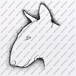 English Bull Terrier Svg File-Tattoo Svg Original Design-Dog Clip art-Animals Svg File-Vector Graphics-Svg For Cricut-For Silhouette-DXF-EPS