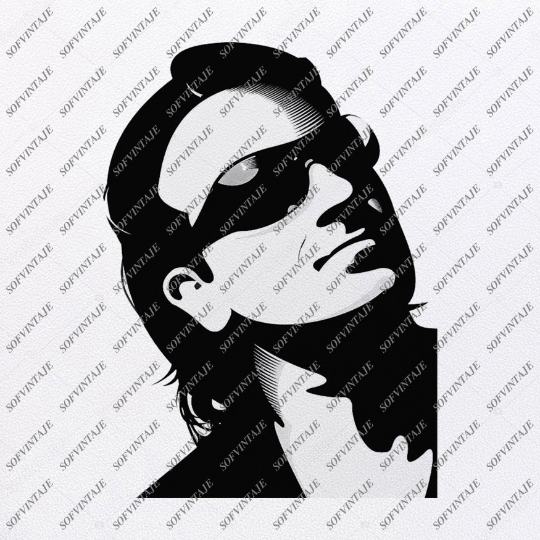 Bono Svg File-Paul David Hewson Original Svg Design-Music Svg-Clip art-U2 Vector Graphics-Svg For Cricut-Svg For Silhouette-SVG - EPS - PDF - DXF - PNG - JPG - AI