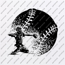 Load image into Gallery viewer, Baseball Cacher Svg -Cacher Svg-Baseball Svg-Baseball Clip art-Top Players Svg-Svg For Cricut - Svg For Silhouette-SVG-EPS-PDF-DXF-PNG-JPG-AI