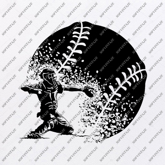 Baseball Cacher Svg -Cacher Svg-Baseball Svg-Baseball Clip art-Top Players Svg-Svg For Cricut - Svg For Silhouette-SVG-EPS-PDF-DXF-PNG-JPG-AI