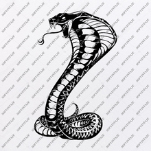 Load image into Gallery viewer, Snake Cobra Svg File-Snake-Original Svg Design-Animals Svg-Snake For Tattoo-Clip art-Cobra Vector Graphics-Svg For Cricut-Svg For Silhouette -SVG - EPS -PDF - DXF - PNG - JPG - AI
