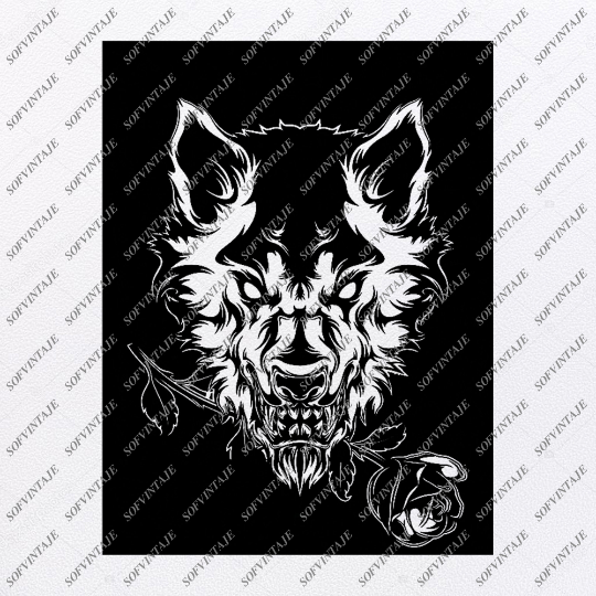 Wolf Svg File - Wolf Original Design - Wolf Clip art - Animals Svg Files - Wild Animals Clipart - Svg For Cricut -For Silhouette - SVG - EPS - PDF - DXF - PNG - JPG - AI