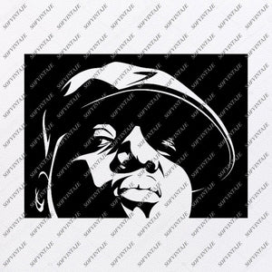 The Notorious B.I.G Svg File-Biggie Svg Design-Clipart-Artist Svg File-Music Png-Vector Graphics-Svg For Cricut-For Silhouette-DXF-EPS
