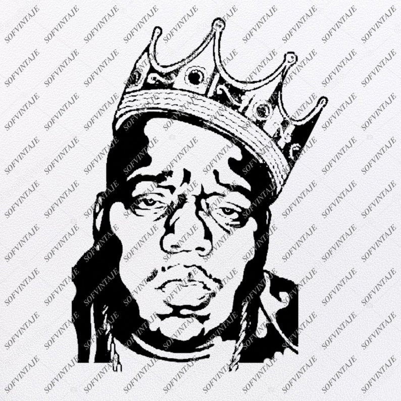 The Notorious B.I.G Svg File-Biggie Smalls Svg Design-Clipart-Actor Svg File-Music Png-Vector Graphics-Svg For Cricut-For Silhouette - SVG - EPS - PDF - DXF - PNG - JPG - AI