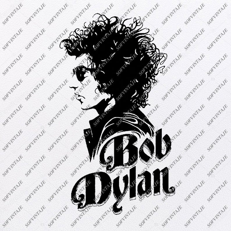 Bob Dylan Svg File-Bob-Design-Clipart-Singer-Songwriter-artist-writer Svg File -Png-Vector Graphics-Svg For Cricut-For Silhouette - SVG - EPS - PDF - DXF - PNG - JPG - AI