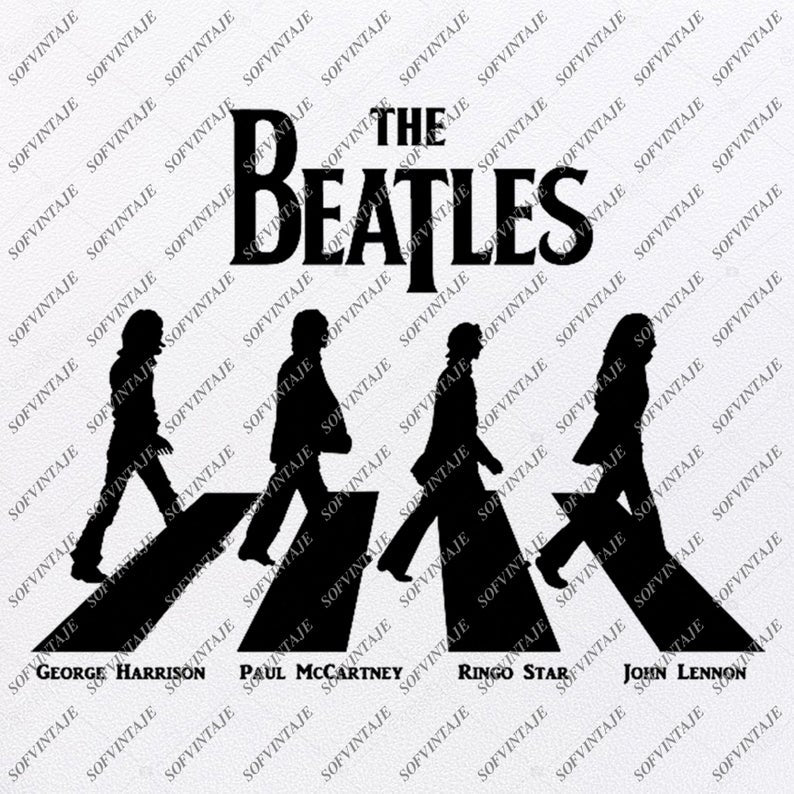 The Beatles Svg File-The Beatles Svg Design-Clipart-Music Svg File-England Png-Vector Graphics - Svg For Cricut - For Silhouette - DXF - EPS