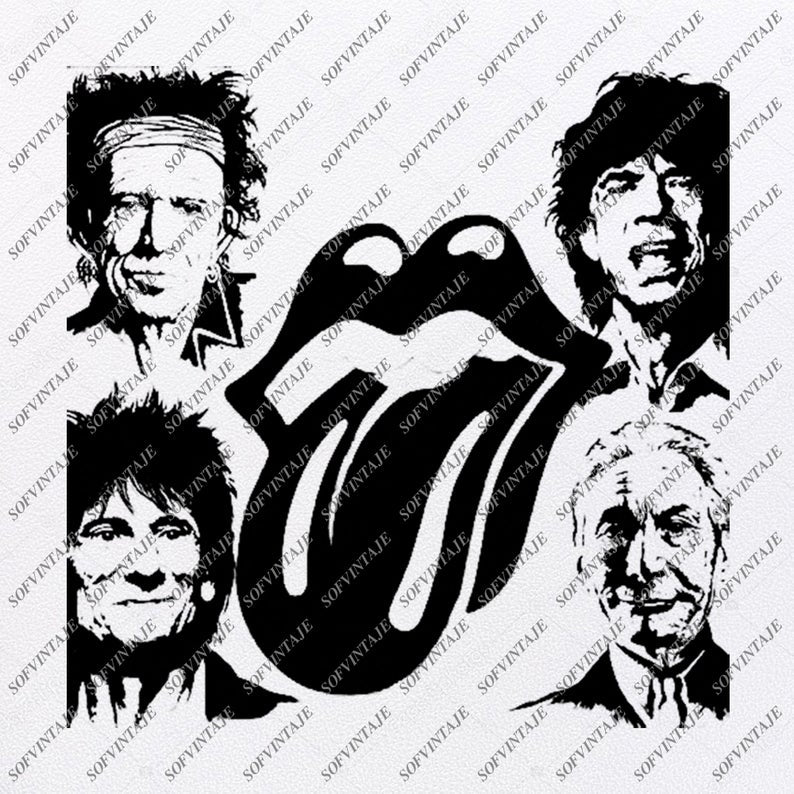 The Rolling Stones Svg File-The Rolling Stones Svg Design-Clipart-Svg File-Artist Png-Vector Graphics-Svg For Cricut-For Silhouette-DXF-EPS