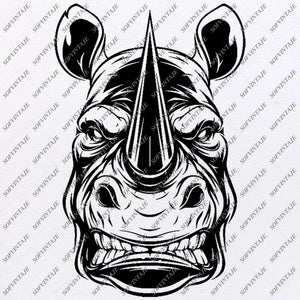 rhino Svg File - Animals Svg -Animals Svg - rhino Png - rhino Vector Graphics - Svg For Cricut - Svg For Silhouette - SVG - EPS - PDF - DXF - PNG - JPG - AI