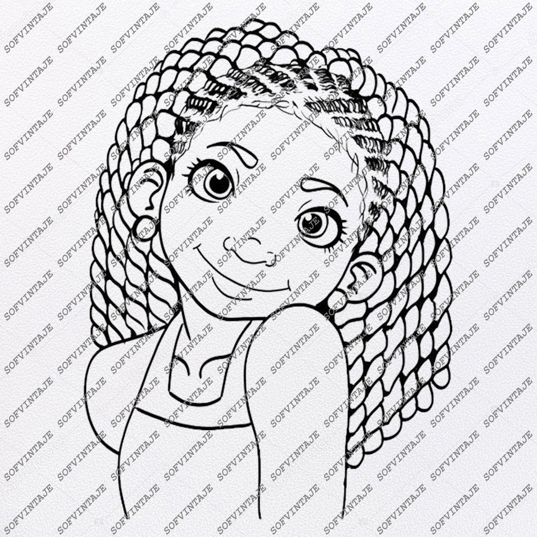 African Girl Svg Files - Africana Svg - Black Girl Svg - Black Art Svg - Vector Graphics - Svg For Cricut - Svg For Silhouette - SVG - EPS - PDF - DXF - PNG - JPG - AI