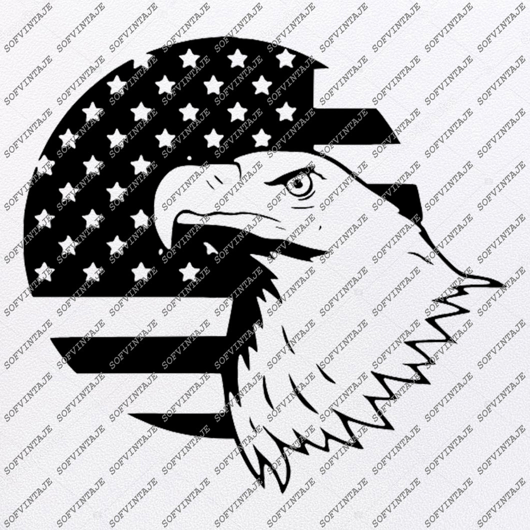 American Flag Svg File - Fourth of July Svg - Bald Eagle Svg - Flag Clip art - Vector Graphics - Svg For Cricut - For Silhouette - SVG - EPS - PDF - DXF - PNG - JPG - AI