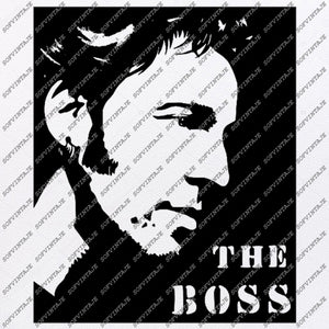 Bcuce Springsteen Svg -The Boss Svg Design-Clipart-Music Svg File-Music Png-Vector Graphics - Svg For Cricut - For Silhouette - DXF - EPS