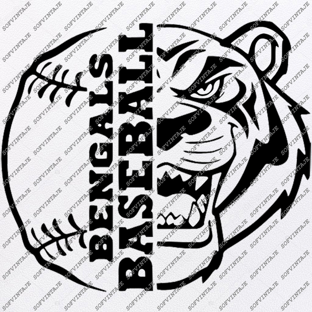 Bengals Baseball Svg File - Baseball Svg - Houston Bengals Baseball Team - Vector Graphics - Svg For Cricut - Svg For Silhouette - SVG - EPS - PDF - DXF - PNG - JPG - AI