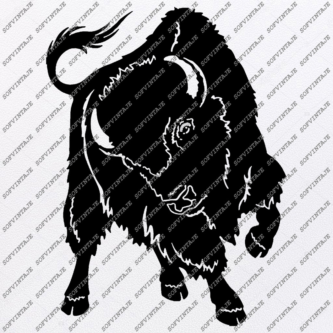 Bison Svg File - Buffalo Svg - Animals Svg - Buffalo Clip art - Wild Animals Png - Svg For Cricut - Svg For Silhouette - SVG - EPS - PDF - DXF - PNG - JPG - AI