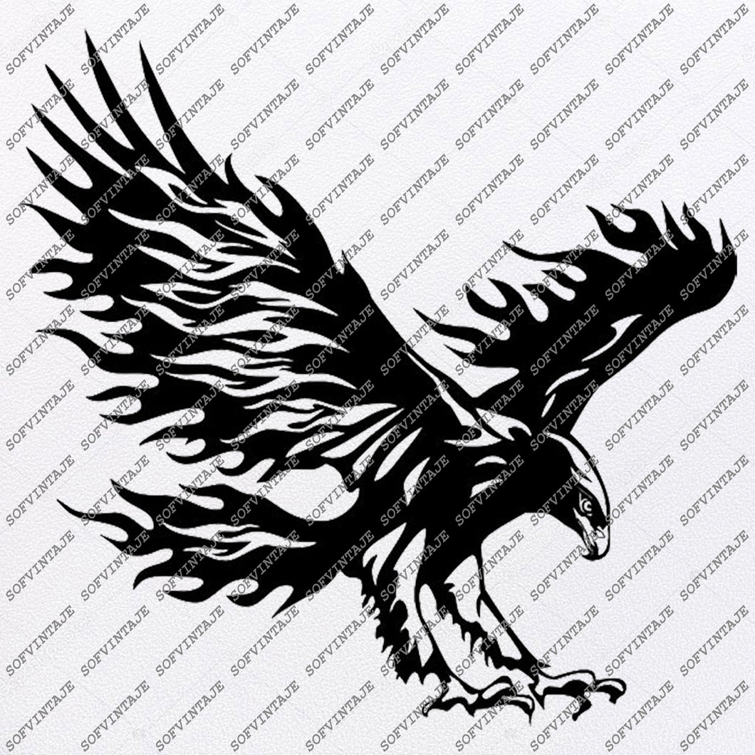 Eagle Svg File - Eagle Tattoo Svg Design-Clipart-Animals Svg File-Animals Png-Vector Graphics -Svg For Cricut-For Silhouette - SVG - EPS - PDF - DXF - PNG - JPG - AI