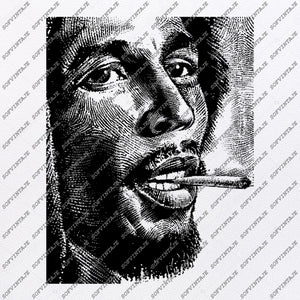 Bob Marley Svg File-Bob marley Svg Design-Clipart-Music Svg File-Singer reggae-Vector Graphics - Svg For Cricut - For Silhouette - DXF - E