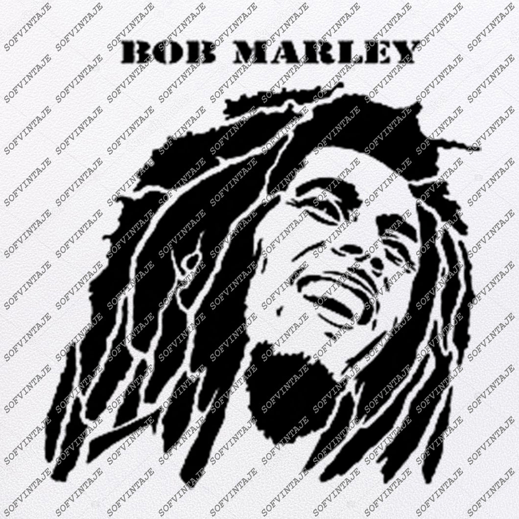 Bob Marley Svg File-Bob marley Svg Design-Clipart-Music Svg File-Singer reggae-Vector Graphics - Svg For Cricut - For Silhouette - DXF - EPS