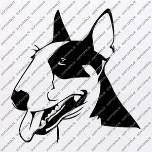 English Bull Terrier Svg File-Tattoo Svg Original Design-Dog Clip art-Animals Svg File-Vector Graphics-Svg For Cricut-For Silhouette-SVG-EPS-PDF-DXF-PNG-JPG-AI.