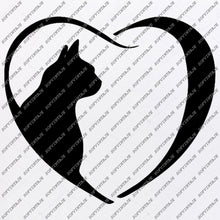 Load image into Gallery viewer, Dog Cat Love Svg File - Dog Original Svg Design -Animals Svg-Clip art-Cat Dog Vector Graphics-Svg For Cricut - Svg For Silhouette - SVG - EPS - PDF - DXF - PNG - JPG - AI
