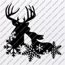 Load image into Gallery viewer, Deer Svg File-christmas deer svg file-Deer Original Svg Design-Animals Svg-Tattoo Svg-Clip art-Deer Vector Graphics-Tattoo Svg For Cricut-Svg For Silhouette - SVG - EPS - PDF - DXF - PNG - JPG - AI