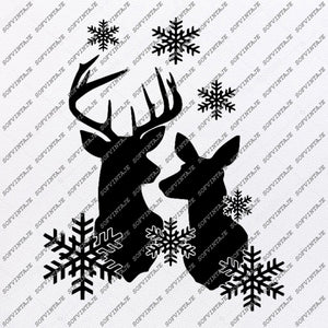 Deer Svg File-christmas deer svg file-Deer Original Svg Design-Animals Svg-Tattoo Svg-Clip art-Deer Vector Graphics-Tattoo Svg For Cricut-Svg For Silhouette - SVG - EPS - PDF - DXF - PNG - JPG - AI