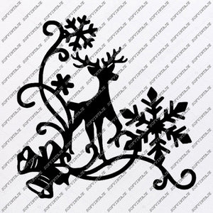 Copy of Merry Christmas Deer svg file-Deer Svg File-Deer Original Svg Design-christmas deer Svg-Tattoo Svg-Clip art-Deer Vector Graphics-Tattoo Svg For Cricut-Svg For Silhouette-SVG-EPS-PDF-DXF-PNG-JPG-AI.