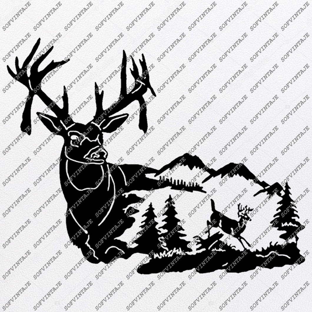Deer Svg File - Animals Svg - Wild Animals - Deer Clip art - Animals PNG - Vector Graphics - Svg For Cricut - Svg For Silhouette - SVG - EPS - PDF - DXF - PNG - JPG -AI