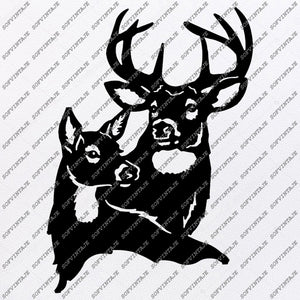 Deers Svg Files - Deer Svg Original Design - Deer clipart - Animals Svg - Svg For Cricut - Svg For Silhouette - SVG - EPS - PDF - DXF - PNG - JPG - AI