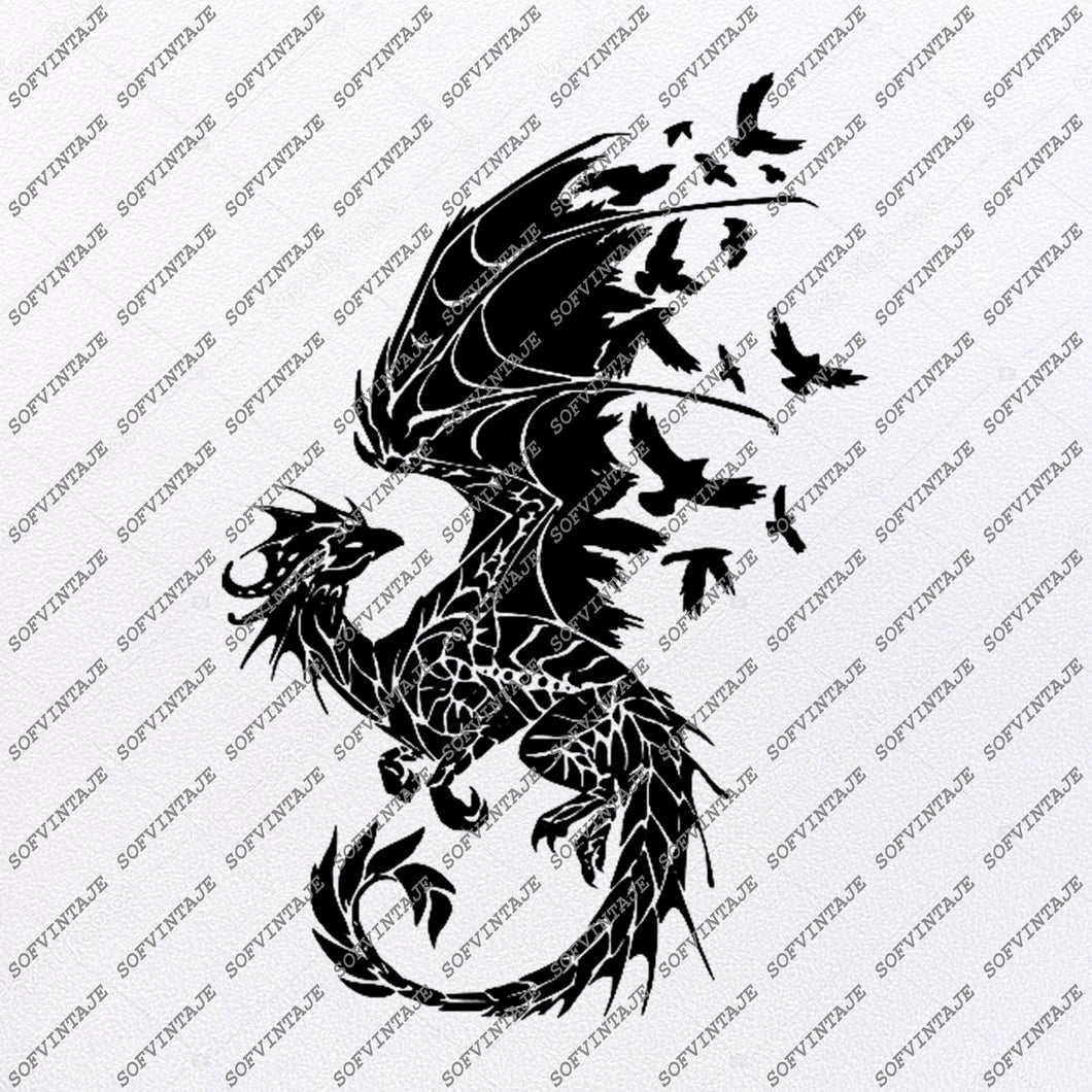 Dragon Svg File - Dragon Original Svg Design - Animals Svg - Clip art - Dragon Vector Graphics - Svg For Cricut - Svg For Silhouette - SVG - EPS - PDF - DXF - PNG - JPG - AI