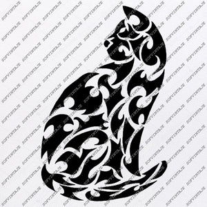 Cat Svg File-Cat Svg Design - Clipart - Animals Svg File - Animals Png - Cat Vector Graphics - Svg For Cricut - For Silhouette - SVG - EPS - PDF - DXF - PNG - JPG - AI