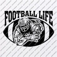 Load image into Gallery viewer, Football Life Svg - American football Svg - Football Svg - Football Clip art - Top Players Svg - Svg For Cricut - Svg For Silhouette-SVG-EPS-PDF-DXF-PNG-JPG-AI