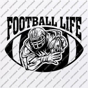Football Life Svg - American football Svg - Football Svg - Football Clip art - Top Players Svg - Svg For Cricut - Svg For Silhouette-SVG-EPS-PDF-DXF-PNG-JPG-AI