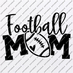 Football Mom Svg File - Football Svg - Football Svg Design - Mom Svg - Clipart - Football Vector - For Cricut - For Silhouette - SVG - EPS - PDF - DXF - PNG - JPG - AI