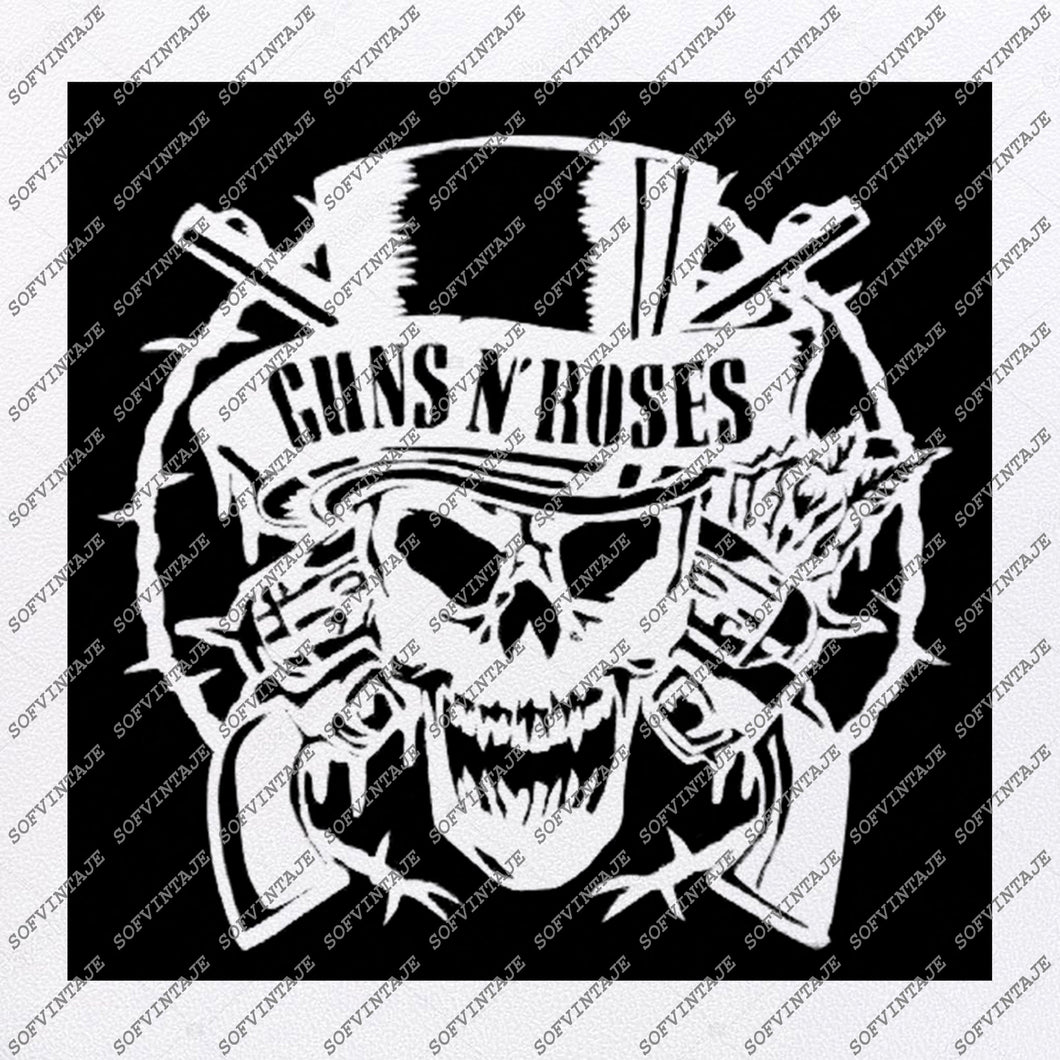 Guns  N Roses Svg File-Guns  N Roses Svg Design-Clipart-Music Svg File-Music Png-Vector Graphics -Svg For Cricut -For Silhouette - SVG - EPS - PDF - DXF - PNG - JPG - AI