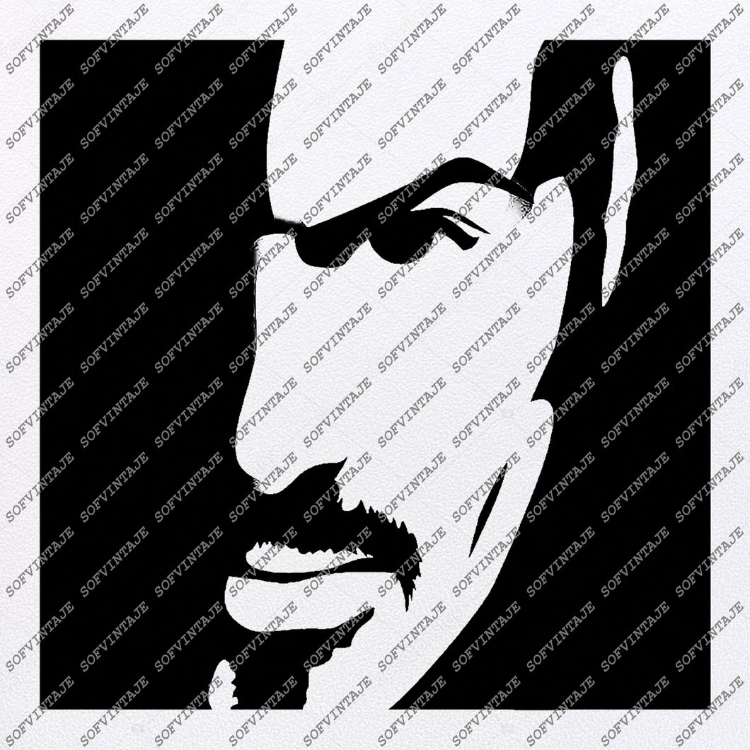 George Michael Svg File-Singer Pop-Svg For Cricut-Vector Graphics-For Silhouette-SVG-EPS-PDF-DXF-PNG-JPG-AI