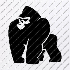 Gorilla Svg File-Gorilla Svg Design-Clipart-Animals Svg File-Animals Png-Vector Graphics-Svg For Cricut-For Silhouette - DXF – EPS
