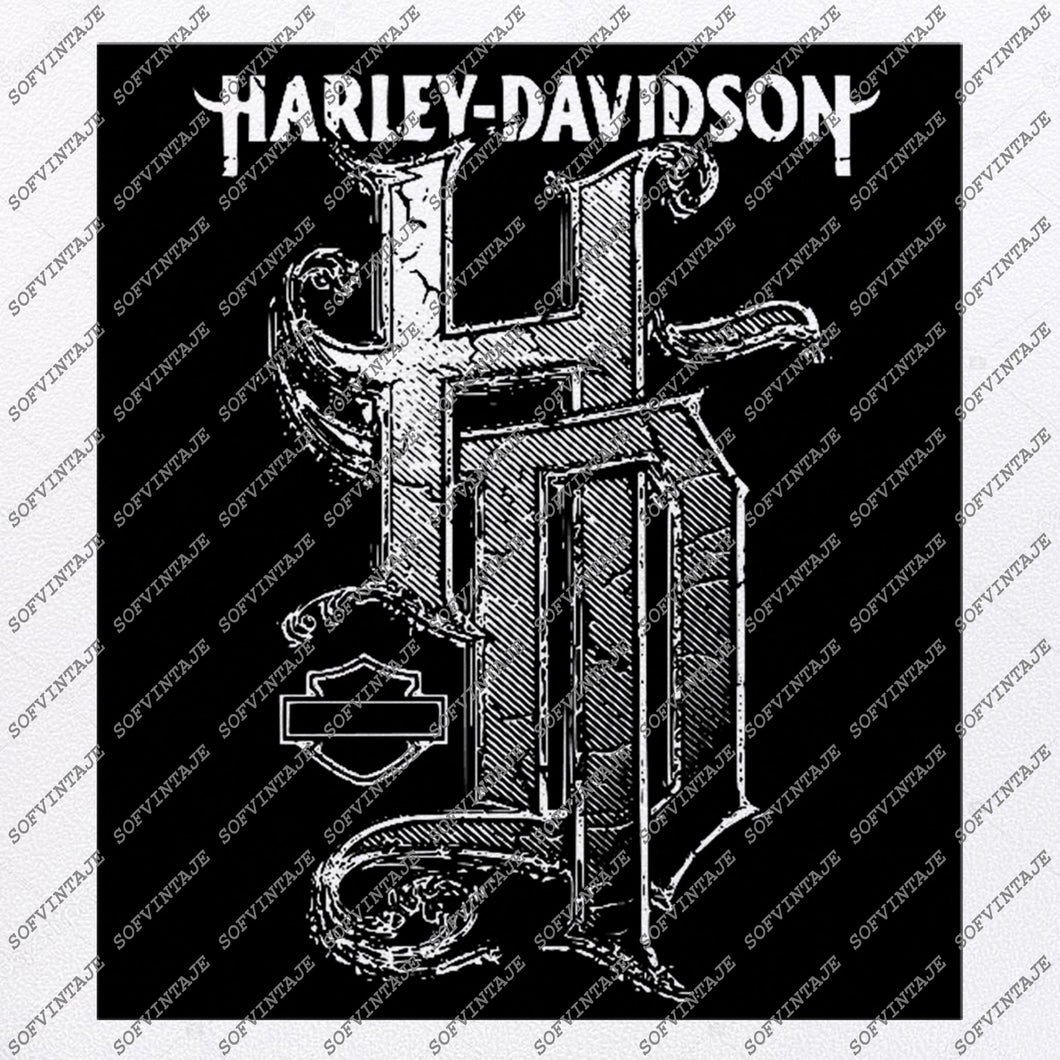 Harley Davidson Svg File-Harley Svg Design - Clipart-For Tattoo Svg File-Davitson Png-Vector Graphics-Svg For Cricut-For Silhouette-DXF-EPS