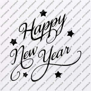 Happy New Year svg file- Happy New Year 2020- Happy New Year Vector file-Image Cut File for Cricut and Silhouette