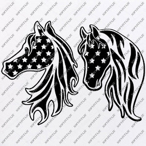 Horse Svg File-Usa Flag Original Design-Usa Flag Clip art-Flag Country Svg Files-Clipart-Svg For Cricut-For Silhouette-SVG - EPS - PDF - DXF - PNG - JPG - AI