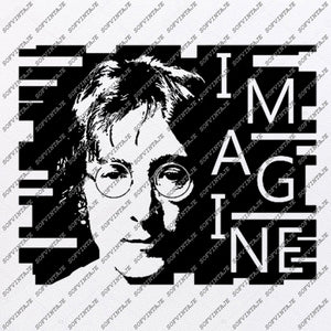 John Lennon Svg File-The Beatles Original Svg Design-Music Svg-Clip art- Vector Graphics- Svg For Cricut - Svg For Silhouette - SVG - EPS - PDF - DXF - PNG - JPG - AI