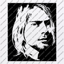 Load image into Gallery viewer, Kurt Cobain Svg File-Nirvana Original Svg Design-Music Svg-Clip art-Nirvana Vector Graphics- Svg For Cricut - Svg For Silhouette - DXF – EPS