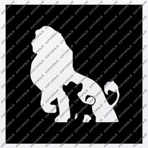 Lion Svg File-Lion Svg Design-Clipart-Animals Svg File-Аnimal Кing Png-Vector Graphics-Svg For Cricut-For Silhouette-DXF-EPS