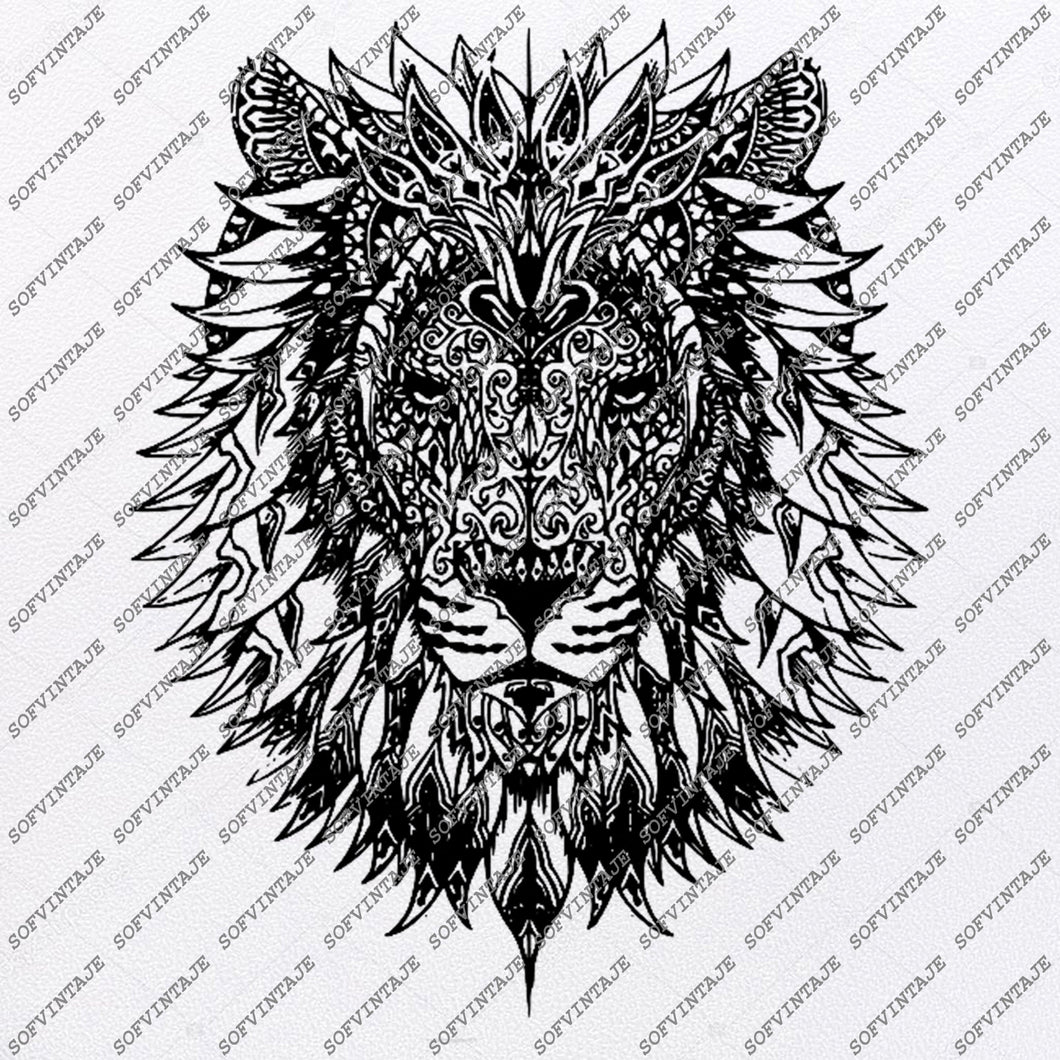 Lion Head Svg File-Lion Head Original Svg Design-Animals Svg-Clip art-Lion Vector Graphics-Svg For Cricut-Svg For Silhouette - SVG - EPS - PDF - DXF - PNG - JPG - AI