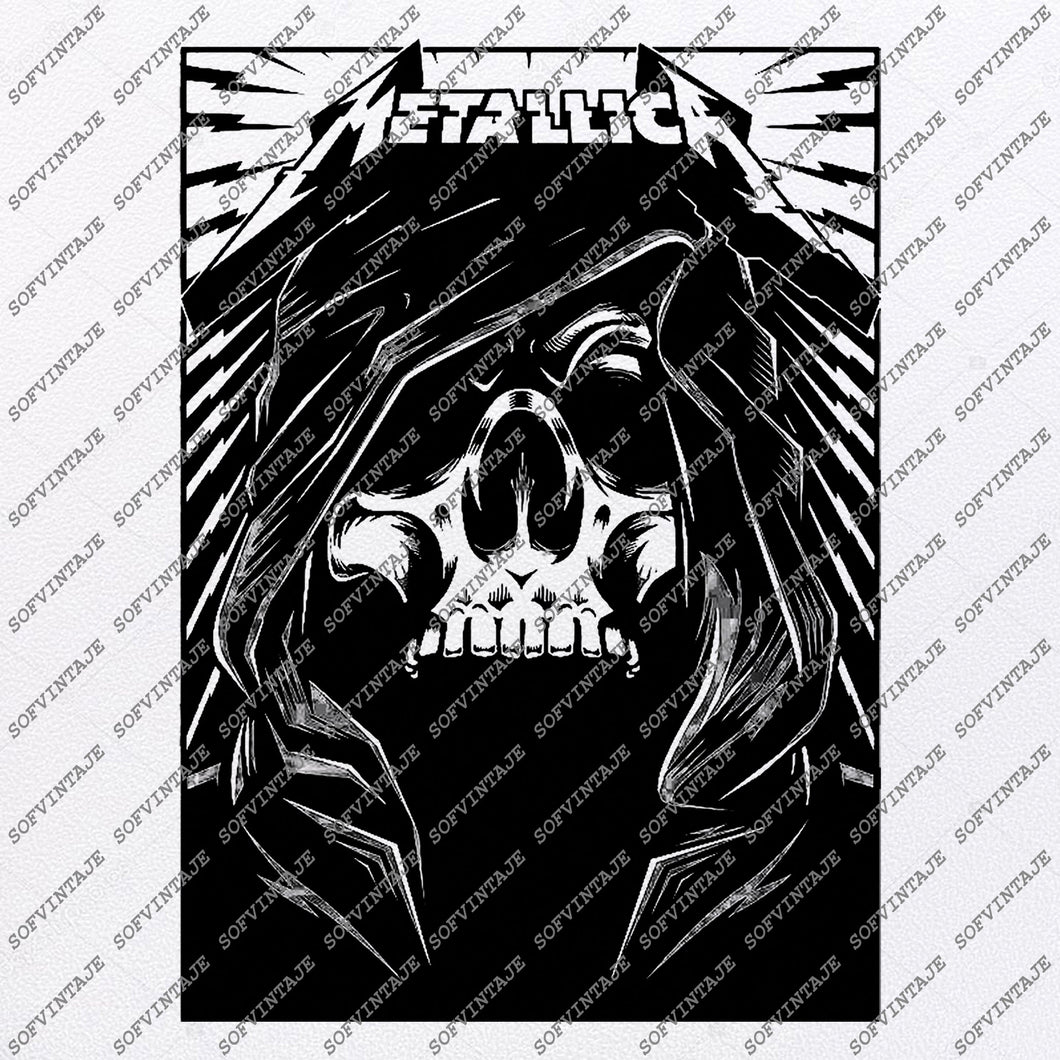 Metallica-Metallica Svg File-Metallica Rock Band-Metallica Vector Graphics-Svg-For Cricut-Skull Svg-For Silhouette -SVG-EPS-PDF-DXF-PNG-JPG-AI