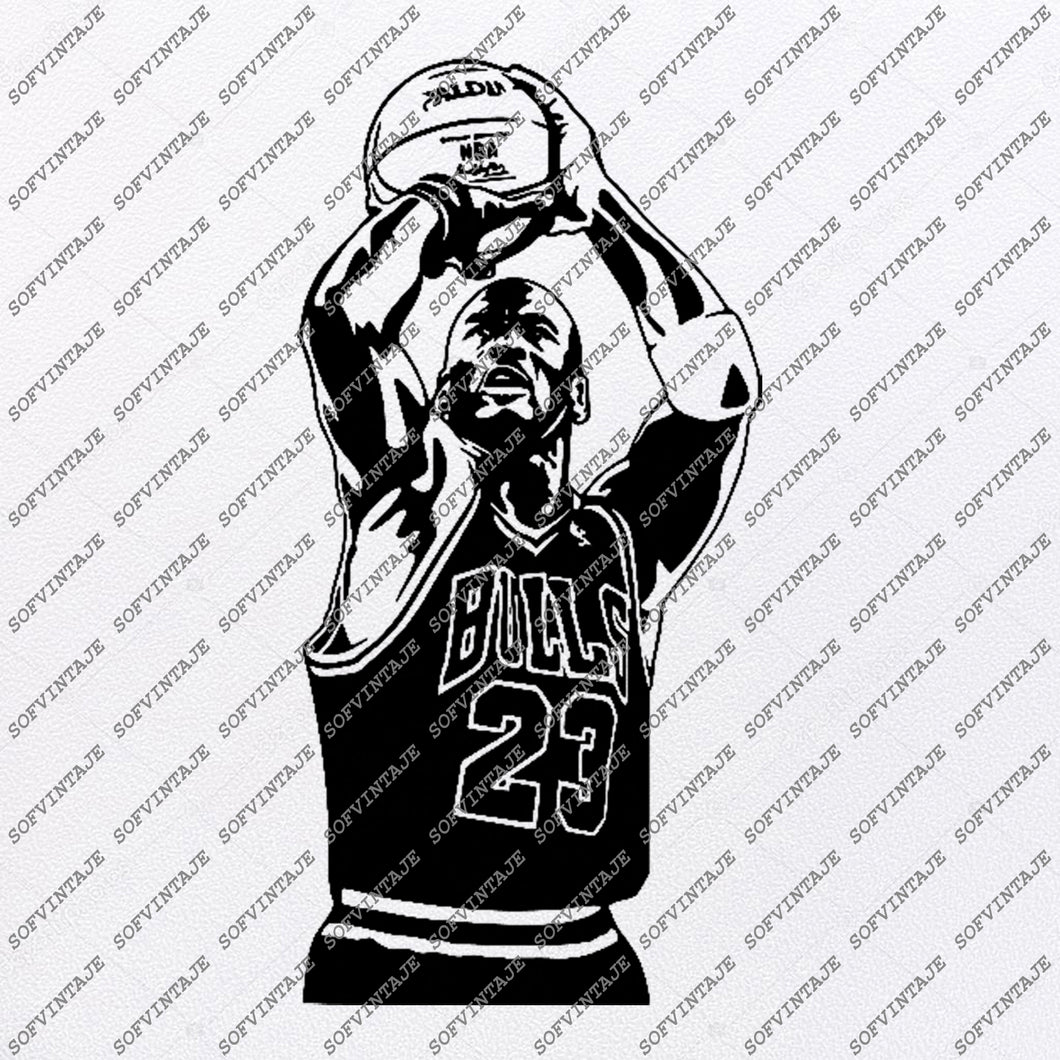 Chicago Bulls Svg -Michael Jeffrey Jordan Svg-Basketball Svg-Basketball Clip art-Top Players Svg-Svg For Cricut - Svg For Silhouette-DXF-EPS