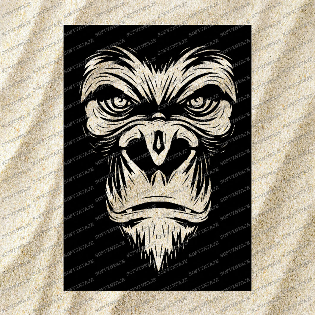 monkey Svg File-monkey Svg Design-Clipart-Animals Svg File-Animals Png-Monkey Vector Graphics-Svg For Cricut-For Silhouette-DXF-EPS